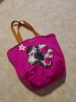 Canvas Bag magenta mixture fibre