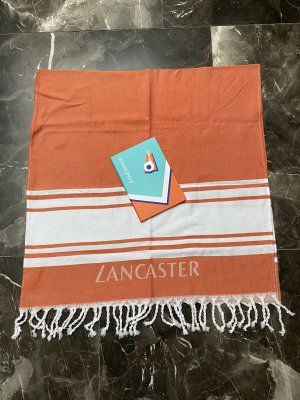 LANCASTER Beach Towel white-neon orange