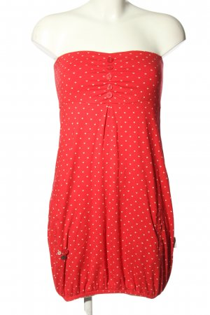 Strange Bustier Dress red-white allover print casual look