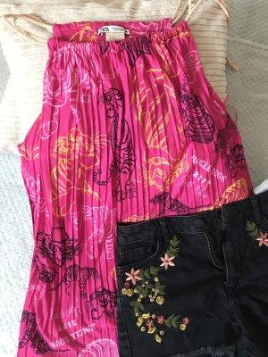 Zara Top de tirantes finos rosa