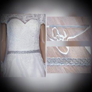 no name Ceinture en tissu blanc-argenté tissu mixte