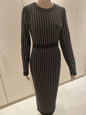 Maxi-jurk zwart-zilver