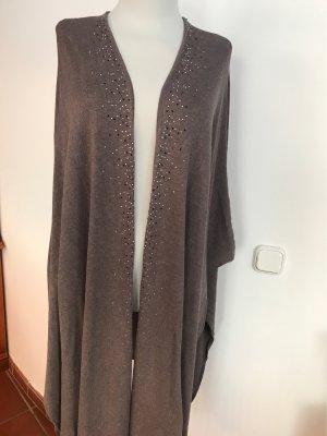 Canda Premium Boléro en tricot gris brun
