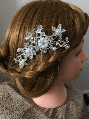 Strasskamm Hochzeit Haarschmuck Perlen Blumen