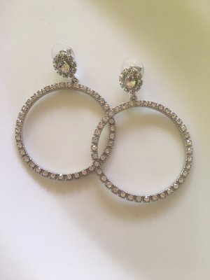 Accessorize Statement Earrings silver-colored