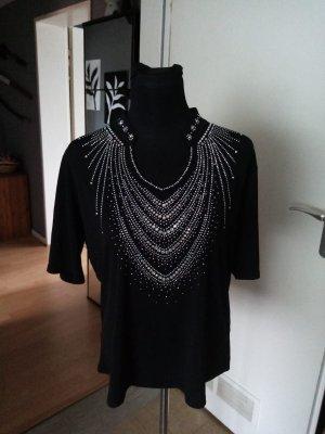 ELI NEWYORK Blouse brillante noir-argenté polyester