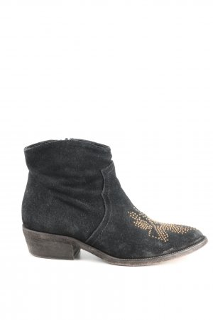 Strategia Botines estilo vaquero negro look casual