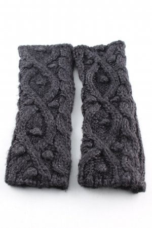 Strauss Fingerless Gloves light grey cable stitch casual look