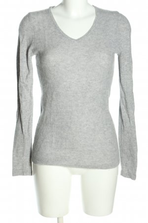 Strauss Innovation Cashmere Jumper light grey flecked casual look