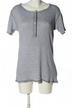 Strauss Ribbed Shirt light grey flecked casual look