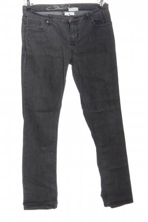 Strauss Straight-Leg Jeans hellgrau Casual-Look