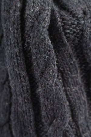 Strauss Knitted Hat black cable stitch casual look