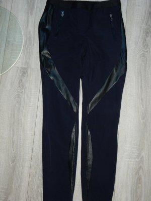Marc Cain Pantalón de tubo negro-azul oscuro