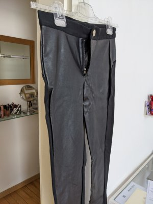 Calzedonia Faux Leather Trousers black