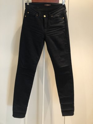 7 For All Mankind Stretch Trousers dark blue