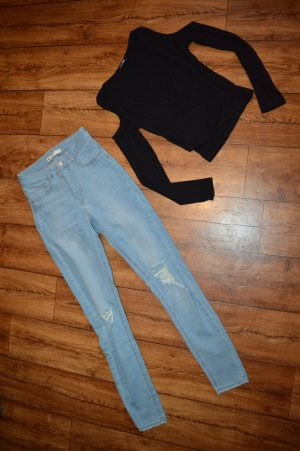 Strechjeans Ginatricot Gr. 38 mit Cuts