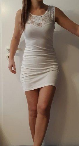 Rainbow Stretch jurk wit