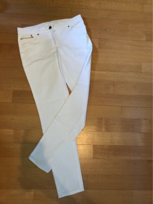H&M Stretch broek wit-goud
