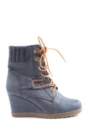 Street Keil-Stiefeletten blau Casual-Look