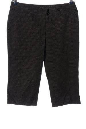 Street One Pantalon 3/4 noir-brun motif à carreaux style décontracté
