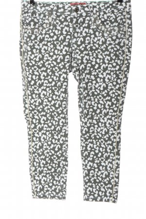 Street One 7/8 Length Jeans light grey-white leopard pattern casual look