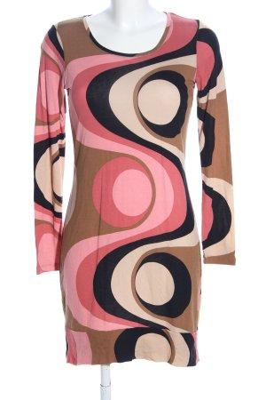 Street One A-Linien Kleid abstraktes Muster Business-Look