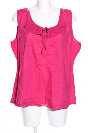 Street One ärmellose Bluse pink Punktemuster Casual-Look