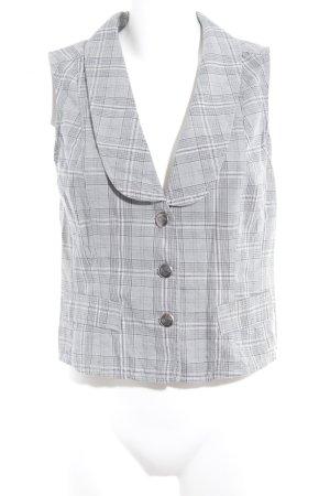Street One Gilet de costume gris-gris clair motif à carreaux