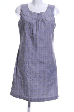Street One Vestido babydoll lila-gris claro estampado a cuadros look casual