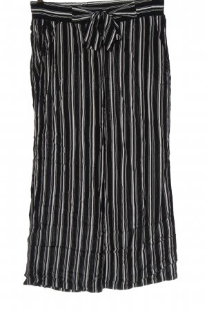 Street One Luźne spodnie czarny-biały Wzór w paski W stylu casual