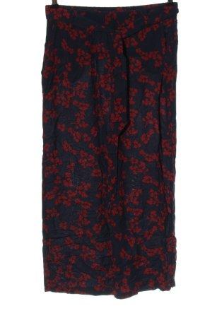 Street One Luźne spodnie niebieski-czerwony Wzór w kwiaty W stylu casual