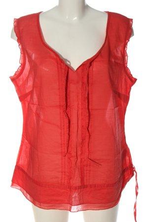 Street One Koszulka basic czerwony Elegancki
