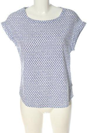 Street One Koszulka basic biały-niebieski Na całej powierzchni W stylu casual