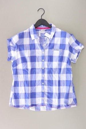 Street One Geruite blouse blauw-neon blauw-donkerblauw-azuur Katoen