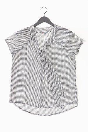 Street One Bluse schwarz geometrisches Muster Größe 38