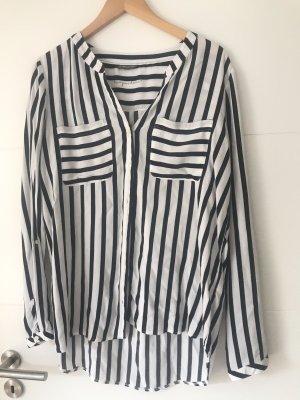 Street one Bluse schwarz weiß gestreift Größe 42