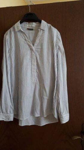 Street One Slip-over blouse wit-korenblauw
