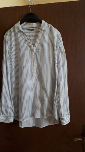 Street One Bluse weiß hellblau Gr. 38 - letzter Preis