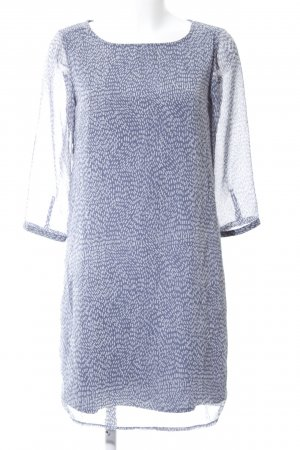 Street One Blusenkleid blau-weiß Allover-Druck Elegant