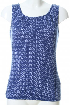 Street One Blusentop blau-weiß Allover-Druck Casual-Look
