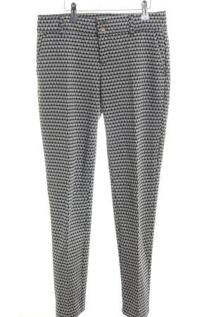 Street One Bundfaltenhose schwarz-weiß abstraktes Muster Business-Look