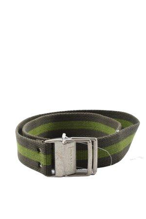 Street One Cinturón de lona negro-verde estampado a rayas look casual