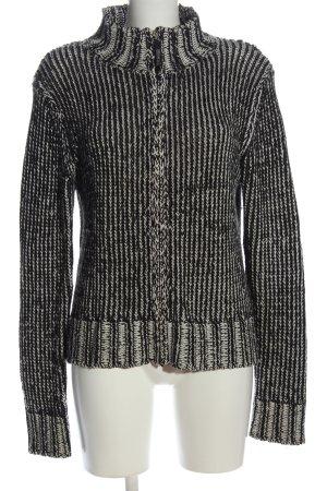 Street One Cardigan schwarz-wollweiß Streifenmuster Casual-Look