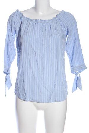 Street One Carmen-Bluse blau-weiß Streifenmuster Casual-Look