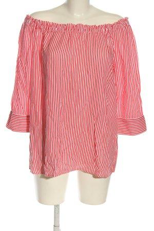 Street One Blouse Carmen rouge-blanc motif rayé style décontracté