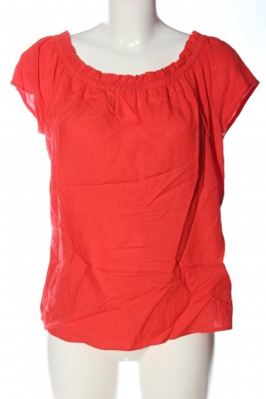 Street One Blusa tipo Carmen rojo look casual