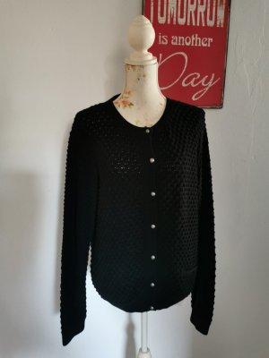 Street One Damen Cardigan Häkelstrick Jacke schwarz Größe 42
