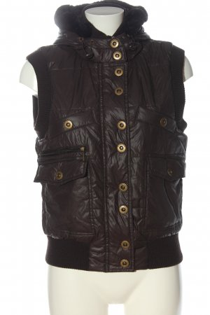 Street One Down Vest brown quilting pattern casual look