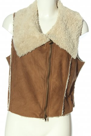 Street One Down Vest brown-natural white casual look