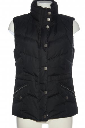 Street One Down Vest black quilting pattern casual look